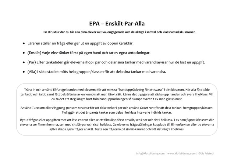 EPA - Beskrivning